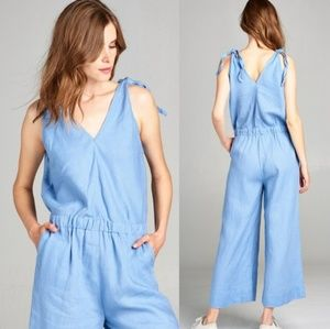 4OUr DREAMERS Linen Jumpsuit Small
